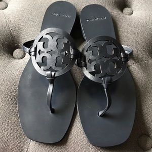 Tory Burch Miller Square Toe Sandals, worn once